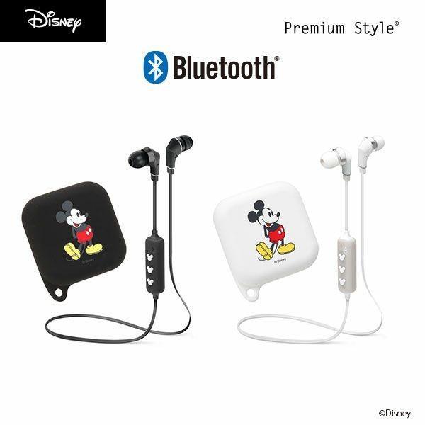 Bluetooth 4.1搭載 ワイヤレス ステレオ イヤホン シリコンポーチ付き ミッキーマウス