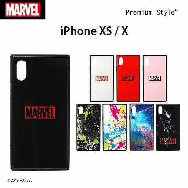 MARVEL マーベル iPhone XS/X用 ガラスハイブリッドケース【MARVELグッズ アイフォンX/XSケース アメコミ】|pg-a