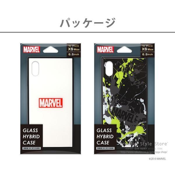 MARVEL マーベル iPhone XSMax用 ガラスハイブリッドケース|pg-a|11