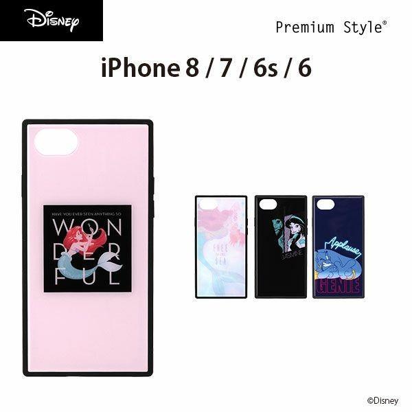 iPhone 8/7/6s/6用 Dinsey ガラスハイブリッドケース