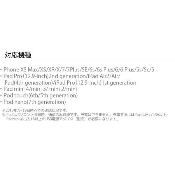 Lightning充電&通信フラットケーブル1.0m|pg-a|03