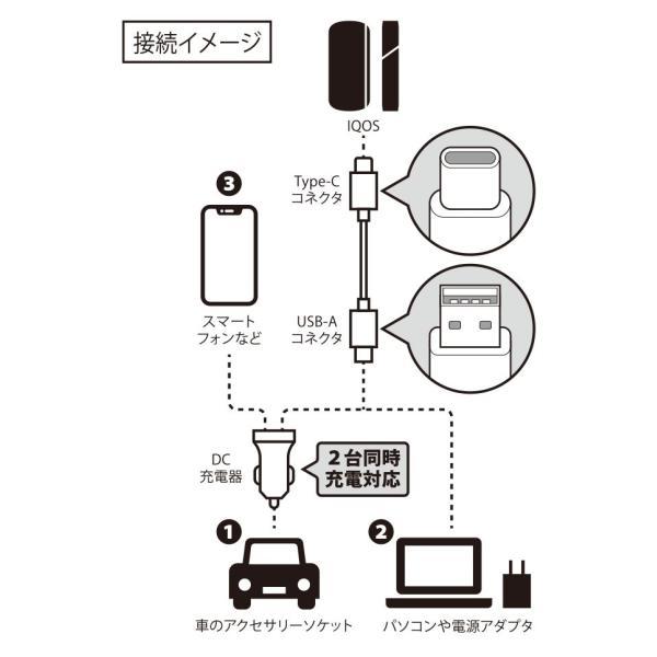 IQOS3用 車載用DC充電器 Type-Cタフケーブル付属|pg-a|03