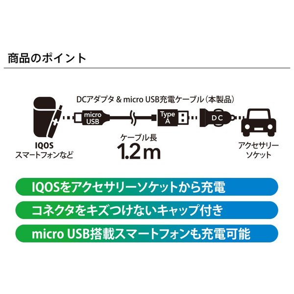 IQOS用 高出力USBポート×2 車載用DC充電器 3.4A|pg-a|02