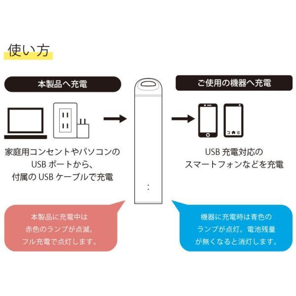 スティック型モバイルバッテリー 3350mAh pg-a 05