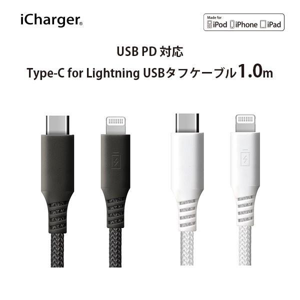 USB Type-C & Lightning USBケーブル 1m|pg-a