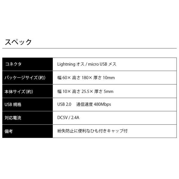 iCharger Lightning - micro USB 変換アダプタ|pg-a|05
