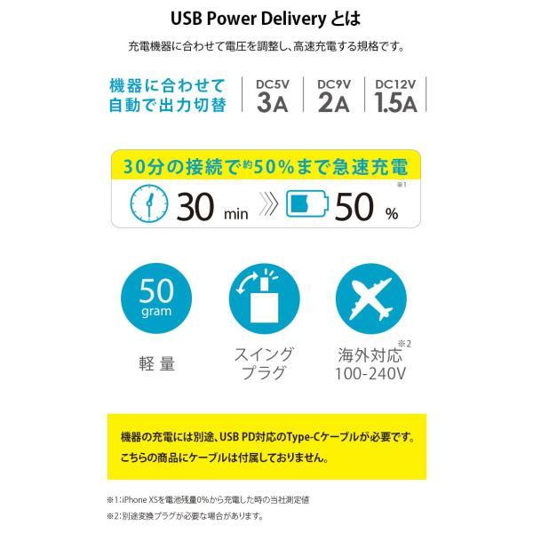 Power Delivery対応 18W出力 USB電源アダプタ|pg-a|03