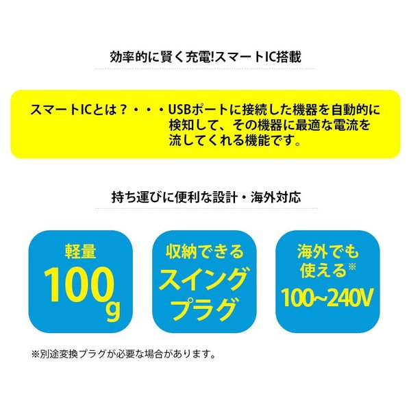 USB電源アダプタ 5.4A (USB-A×2/USB-C×1)|pg-a|03