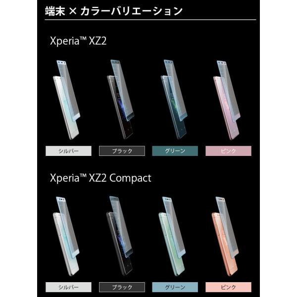 Xperia XZ2/XZ2 Compact 3D液晶全面保護ガラス PETフレーム pg-a 03