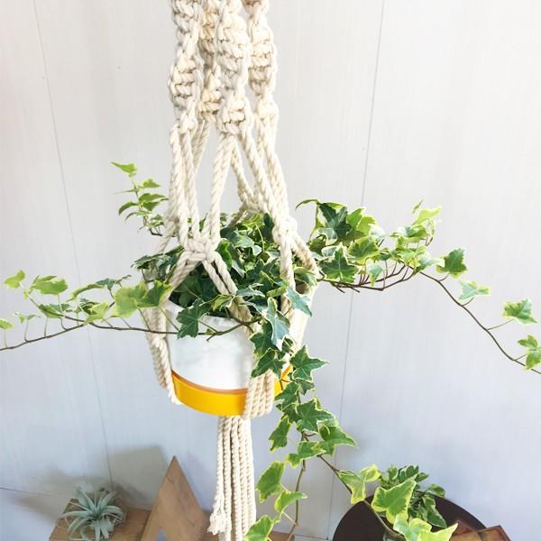 マクラメ プラント ハンギング おしゃれ 雑貨 吊り鉢 手編み|pg869|03