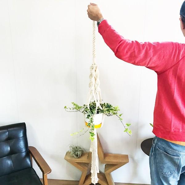 マクラメ プラント ハンギング おしゃれ 雑貨 吊り鉢 手編み|pg869|05