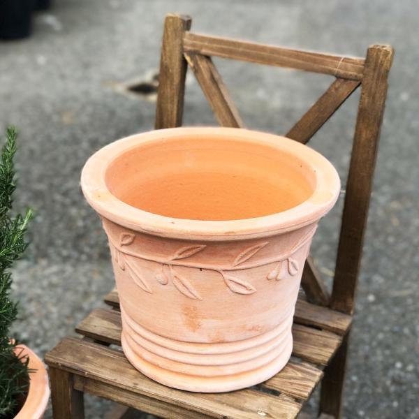 テラコッタ 植木鉢 中型 素焼き鉢 アンティーク 販売 おしゃれ 即日出荷 送料無料|pg869|04