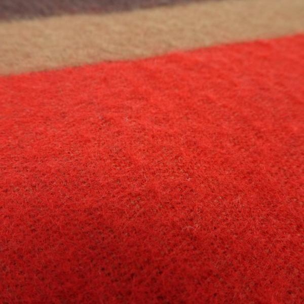 ルイヴィトン LOUIS VUITTON マフラー エシャルプ Vイストリック 赤 ブラウン /043537 【中古】|phasemidoriya78|04