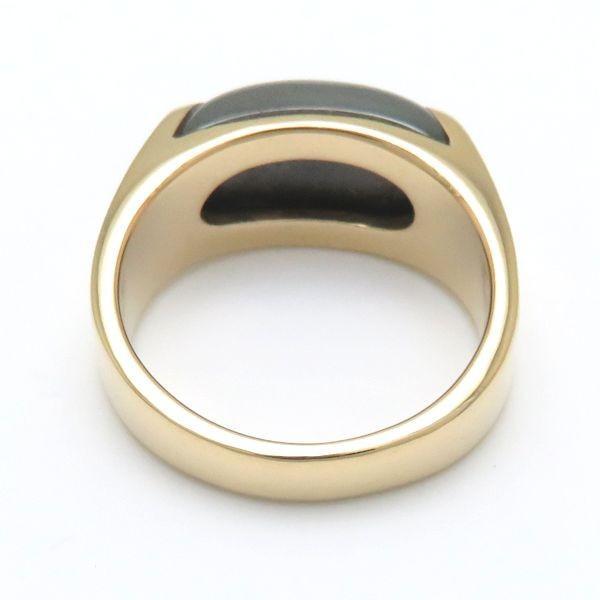 ブルガリ BVLGARI トロンケット リング ヘマタイト K18YG 13号 750 イエローゴールド 指輪/098487【中古】