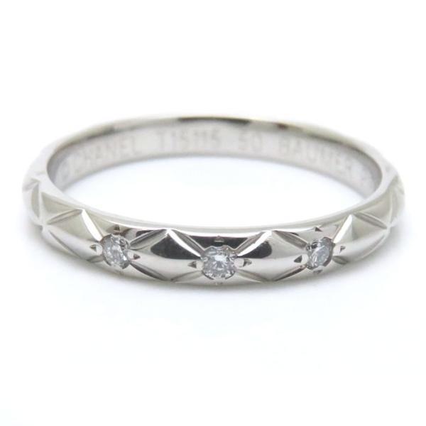 67d846903d7a ... シャネル CHANEL マトラッセリング ダイヤモンド3P Pt950 #50 9.5号 J2821 マリッジリング 指輪/ ...