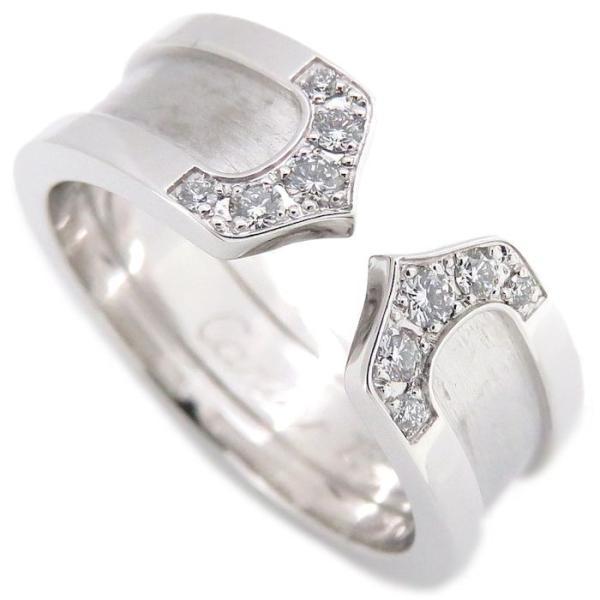 カルティエ Cartier C2リング ダイヤモンド10P K18WG #49 9号 750 ホワイトゴールド 指輪/099827【中古】