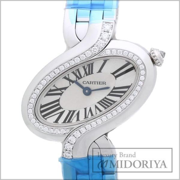 カルティエ CARTIER デリス ドゥ カルティエ SM WG800004 レディース ダイヤモンド/34801 【中古】 【オーバーホール済/ 外装磨き仕上げ済】 腕時計|phasemidoriya78