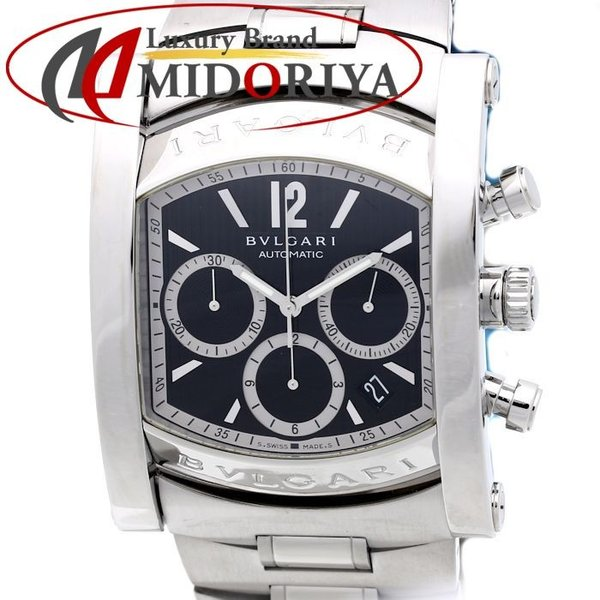 669e71e9beff ブルガリ BVLGARI アショーマ クロノグラフ メンズ AA48SCH 腕時計 自動巻き /34938 【オーバーホール済 ...