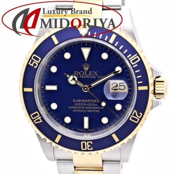 size 40 09fa4 2cd08 ロレックス ROLEX 青サブマリーナ デイト メンズ 16613 ブルー F ...