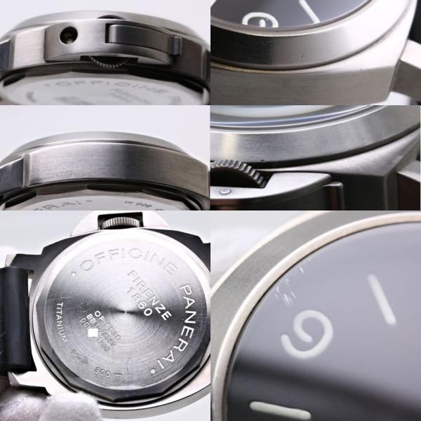 new style 93364 dd230 パネライ PANERAI ルミノールベース PAM00055 D番 44mm 手巻き チタン メンズ /35746 【中古】 腕時計