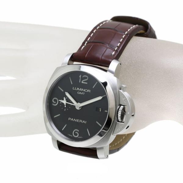 パネライ ルミノール1950 3デイズ GMT PAM00320 PANERAI メンズ 替えベルト2本付き /36291 【中古】 腕時計|phasemidoriya78|02