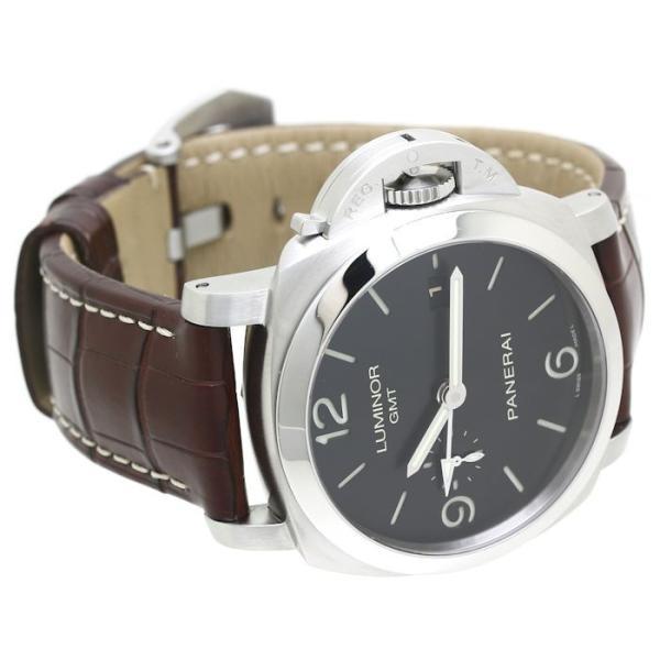 パネライ ルミノール1950 3デイズ GMT PAM00320 PANERAI メンズ 替えベルト2本付き /36291 【中古】 腕時計|phasemidoriya78|03