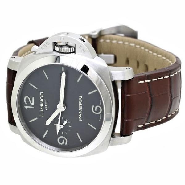 パネライ ルミノール1950 3デイズ GMT PAM00320 PANERAI メンズ 替えベルト2本付き /36291 【中古】 腕時計|phasemidoriya78|04