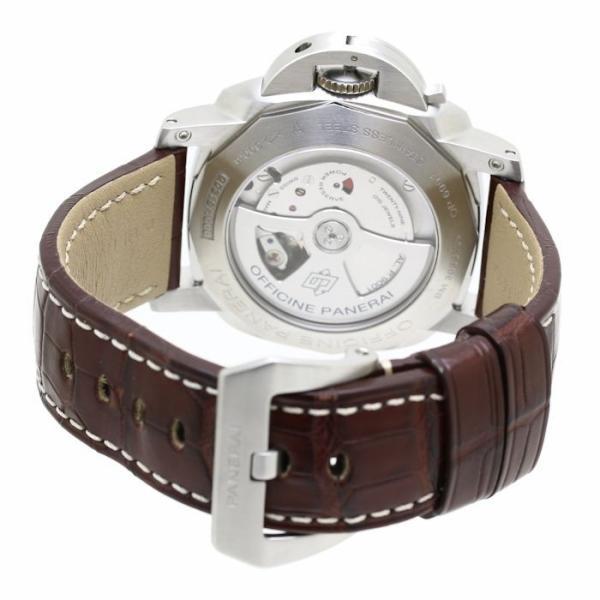 パネライ ルミノール1950 3デイズ GMT PAM00320 PANERAI メンズ 替えベルト2本付き /36291 【中古】 腕時計|phasemidoriya78|05