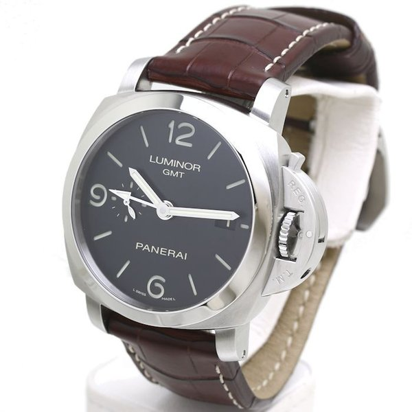 パネライ ルミノール1950 3デイズ GMT PAM00320 PANERAI メンズ 替えベルト2本付き /36291 【中古】 腕時計|phasemidoriya78|07
