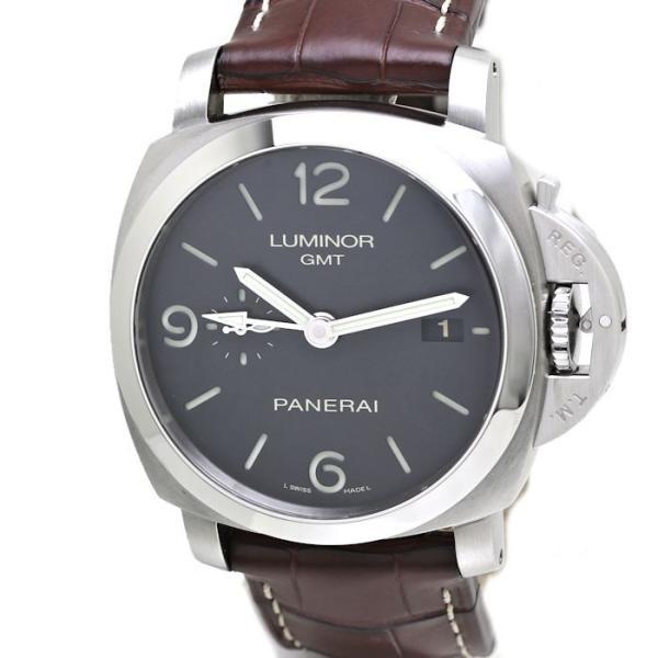 パネライ ルミノール1950 3デイズ GMT PAM00320 PANERAI メンズ 替えベルト2本付き /36291 【中古】 腕時計|phasemidoriya78|10