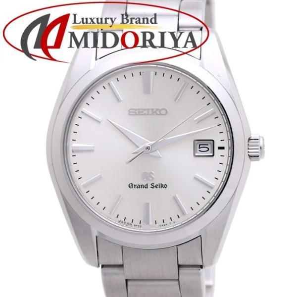 グランドセイコー GRAND SEIKO SBGX063 メンズ 9F62 0AB0 デイト シルバー クオーツ GS /36699 【中古】 腕時計