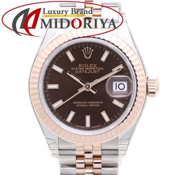 ロレックスROLEXレディデイトジャスト28279171RG/SSチョコレート/37195 未使用 腕時計