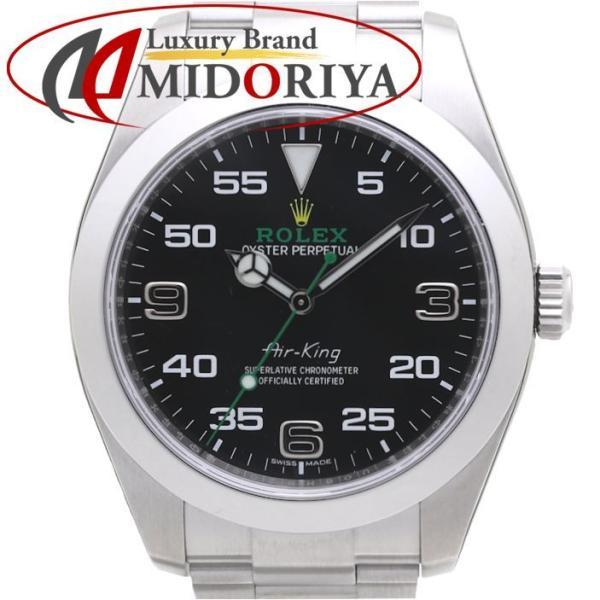 ROLEX ロレックスエアキング116900黒ブラック自動巻きメンズランダム番/37454 未使用保護シール付き 腕時計