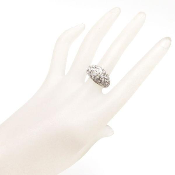 ダイヤモンドリング Pt900 フラワーモチーフ ダイヤモンド0.50ct 15号 プラチナ 指輪 レディース ジュエリー/63339【中古】