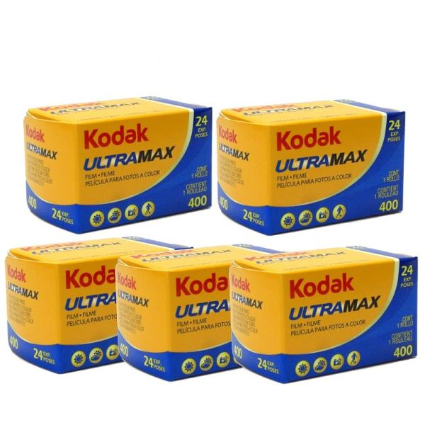 コダック カラーネガフィルム ULTRA MAX 400 35mm 24枚撮り 5本セット (Kodak ウルトラマックス)