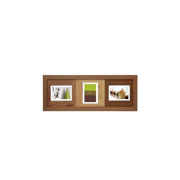 ラドンナ AVANTI フォトフレーム 3窓 CW30-30-BR ブラウンの画像