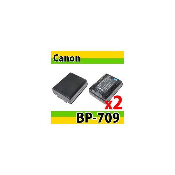 DC131充電器CG-700+キヤノンBP-709互換バッテリー2個の3点セット