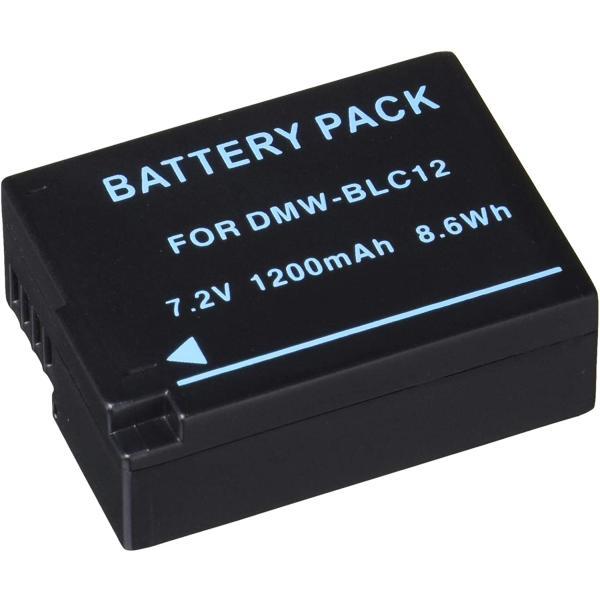 定形外 パナソニック(Panasonic) DMW-BLC12互換バッテリー LUMIX DMC-FZ200/DMC-G5/DMC-G6/DMC-GH2対応