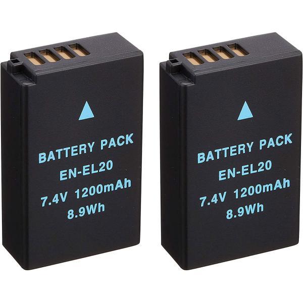 定形外 ニコン(Nikon) EN-EL20/EN-EL20A互換バッテリー 2個セット Nikon 1 J3/1 J2/1 J1/1 S1/COOLPIX A対応