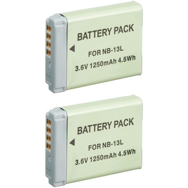 定形外 キャノン(Canon) NB-13L 互換バッテリー 2個セット Power Shot G7 X 対応