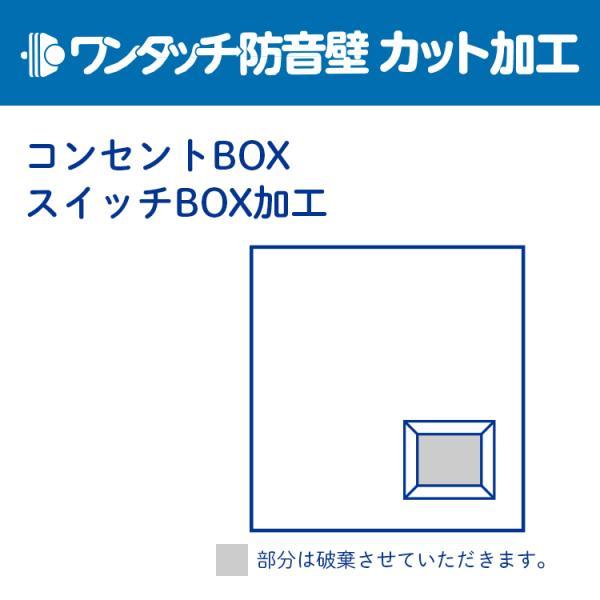 ンタッチ防音壁 カット・加工代 コンセントBOX・スイッチBOX加工