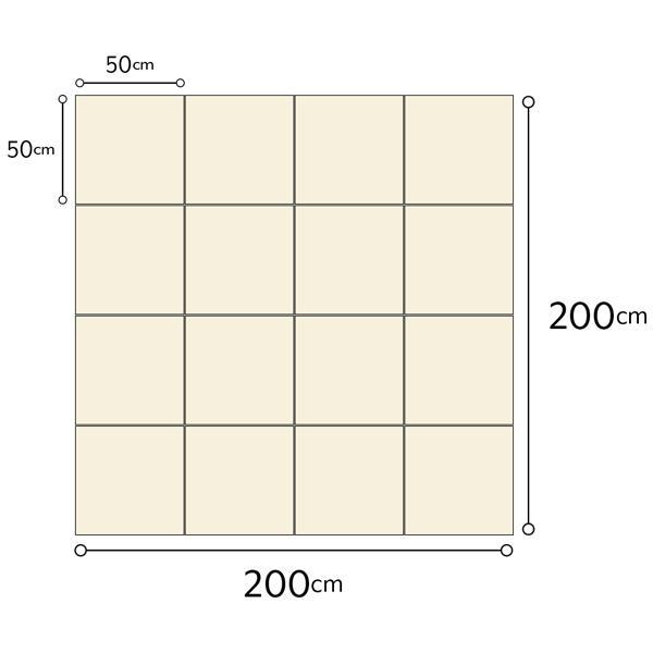 防音マット 防音カーペット タイルカーペット 床 防音 防振 床暖房 保温 日本製 騒音対策 洗濯可 50cm×50cm 16枚入 ピアリビング ノンストレスカーペット|pialiving|04