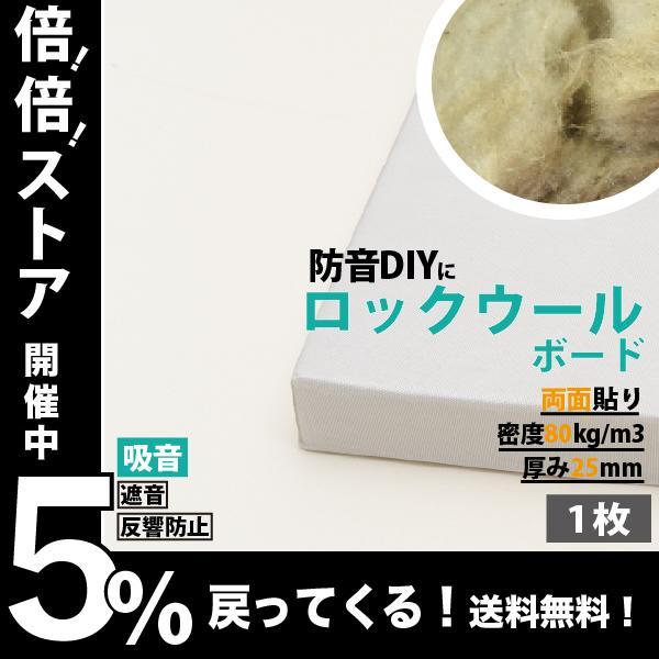 防音パネル 防音ボード 吸音 防音 DIY 遮音 騒音対策 ピアリビング ロックウールボード 密度80kg/m3 ガラスクロス両面貼り 白 605×910mm 厚さ25mm 1枚