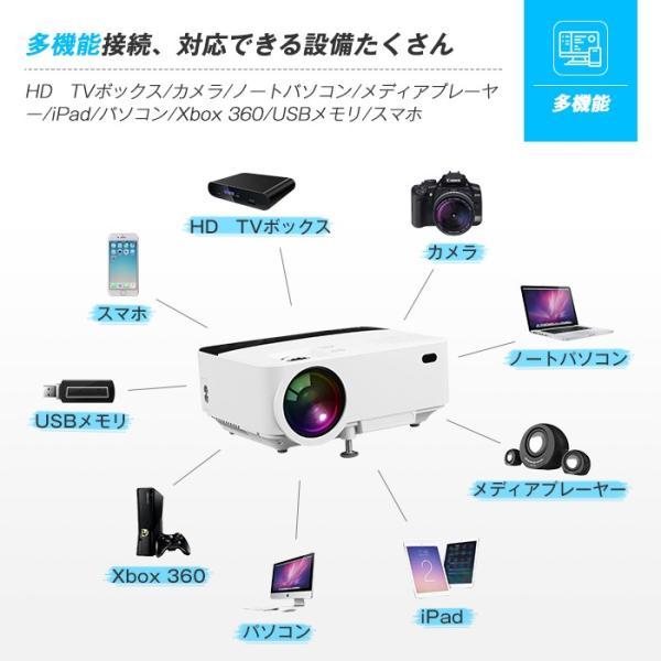 Exquizon T5 小型LEDプロジェクター 1500ルーメン 1080P 家庭用 USB/SD/AV/HDMI/VGA/IR対応  リモコン付き|pianisimo|11