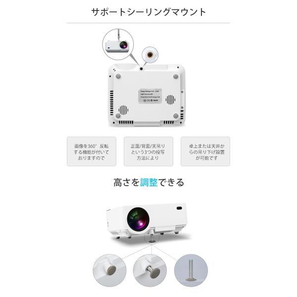 Exquizon T5 小型LEDプロジェクター 1500ルーメン 1080P 家庭用 USB/SD/AV/HDMI/VGA/IR対応  リモコン付き|pianisimo|12