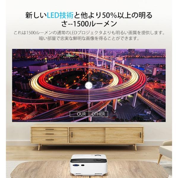 Exquizon T5 小型LEDプロジェクター 1500ルーメン 1080P 家庭用 USB/SD/AV/HDMI/VGA/IR対応  リモコン付き|pianisimo|05