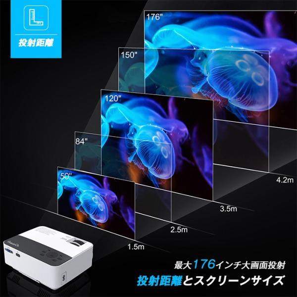 Exquizon T5 小型LEDプロジェクター 1500ルーメン 1080P 家庭用 USB/SD/AV/HDMI/VGA/IR対応  リモコン付き|pianisimo|07