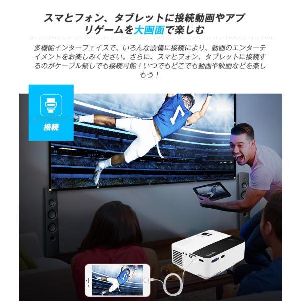 Exquizon T5 小型LEDプロジェクター 1500ルーメン 1080P 家庭用 USB/SD/AV/HDMI/VGA/IR対応  リモコン付き|pianisimo|08