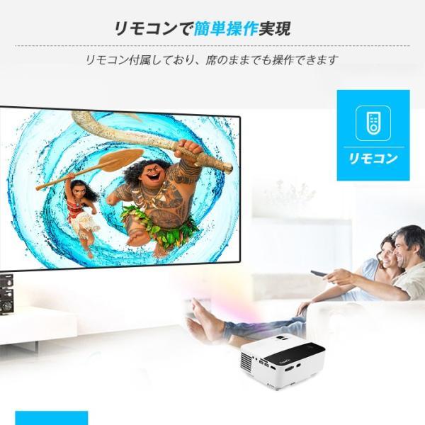 Exquizon T5 小型LEDプロジェクター 1500ルーメン 1080P 家庭用 USB/SD/AV/HDMI/VGA/IR対応  リモコン付き|pianisimo|09