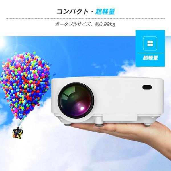 Exquizon T5 小型LEDプロジェクター 1500ルーメン 1080P 家庭用 USB/SD/AV/HDMI/VGA/IR対応  リモコン付き|pianisimo|10